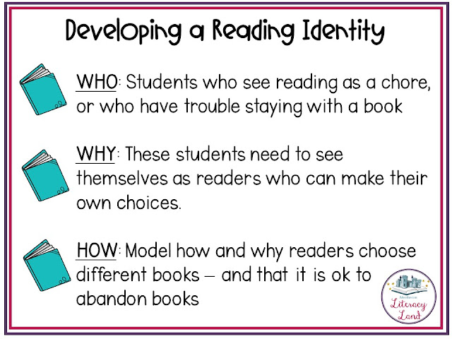 Conferences that develop reading identity