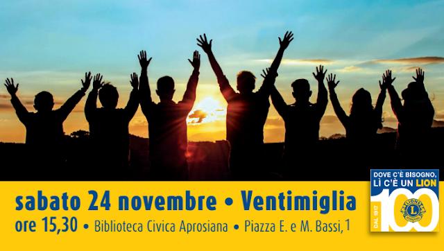 """""""Non si va lontano se non si fa qualcosa per gli altri"""", il Lions Club Ventimiglia incontra la cittadinanza"""