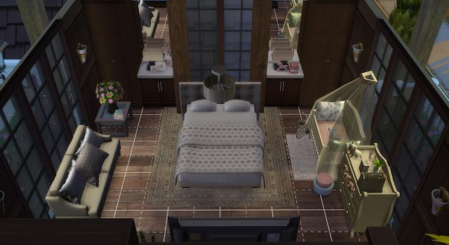 habitación de una casa en los sims 4