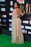 Prajna Actress in backless Cream Choli and transparent saree at IIFA Utsavam Awards 2017 0017.JPG