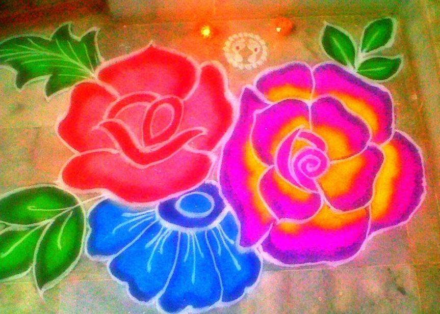 Flowers Rangoli For Holi ! Art Magazine