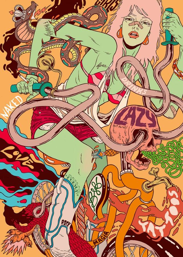 """""""Кислотные"""" картины. Douglas Bicicleta 11"""
