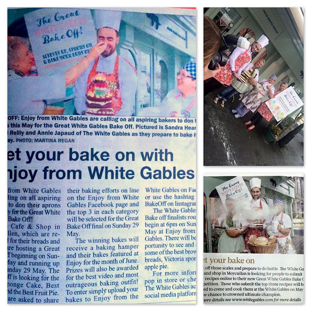 newspaper photos from the White Gables Bake Off