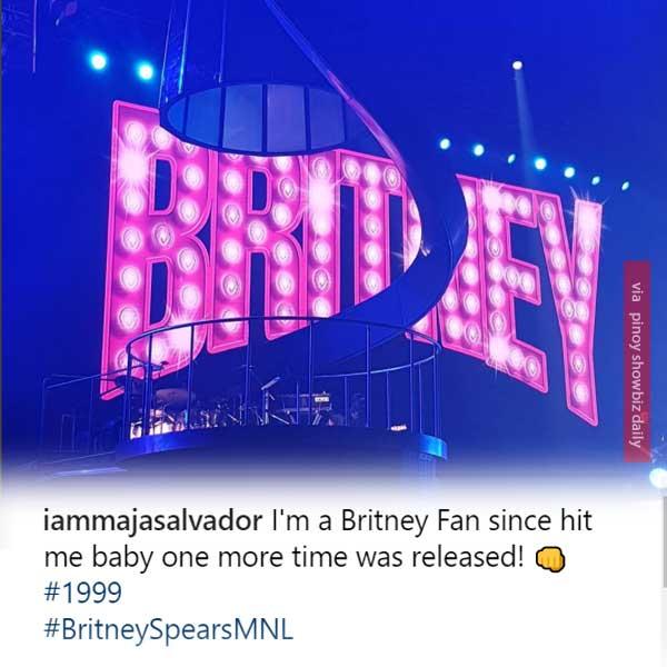 Maja Salvador has an amazing reaction to Britney Spears' Manila Concert