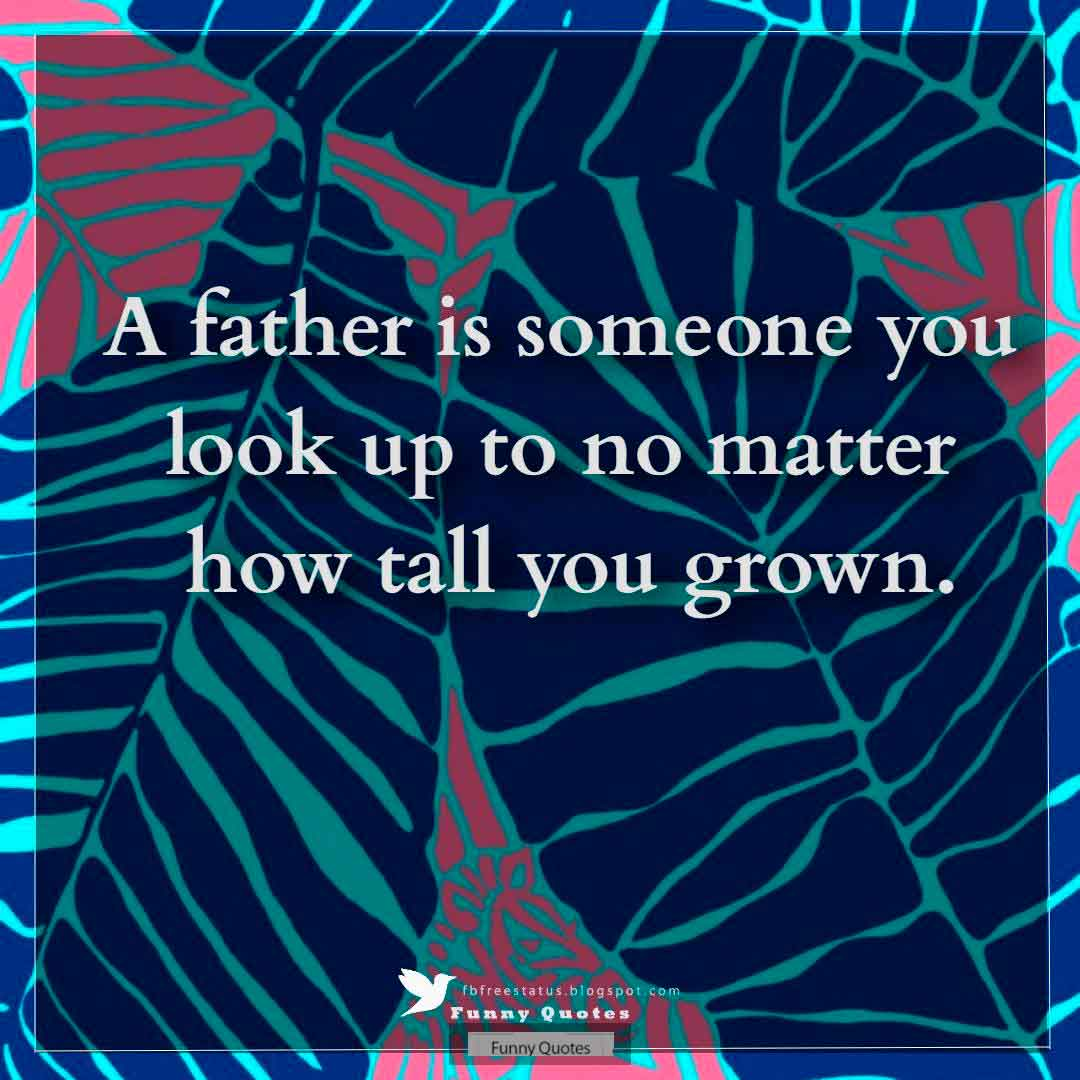 """A father is someone you look up to no matter how tall you grown."""