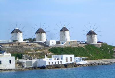 mori de vânt in Mykonos