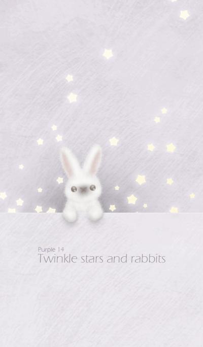 Twinkle stars and rabbits/ purple 14