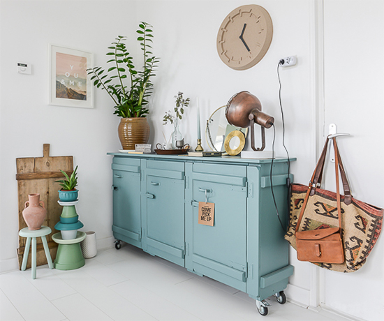 móvel rústico, decor, home decor, móvel colorido, a casa eh sua, acasaehsua, vasos de plantas, decoração, interior design, interior