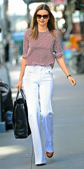 Miranda Kerr in high-waisted