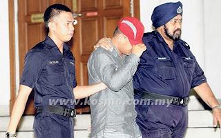 Paksa Onani Tahanan Lokap Anggota Polis Ke Mahkamah