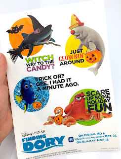 disney store halloween finding dory stickers