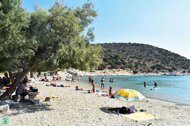 Panormos Beach en Naxos