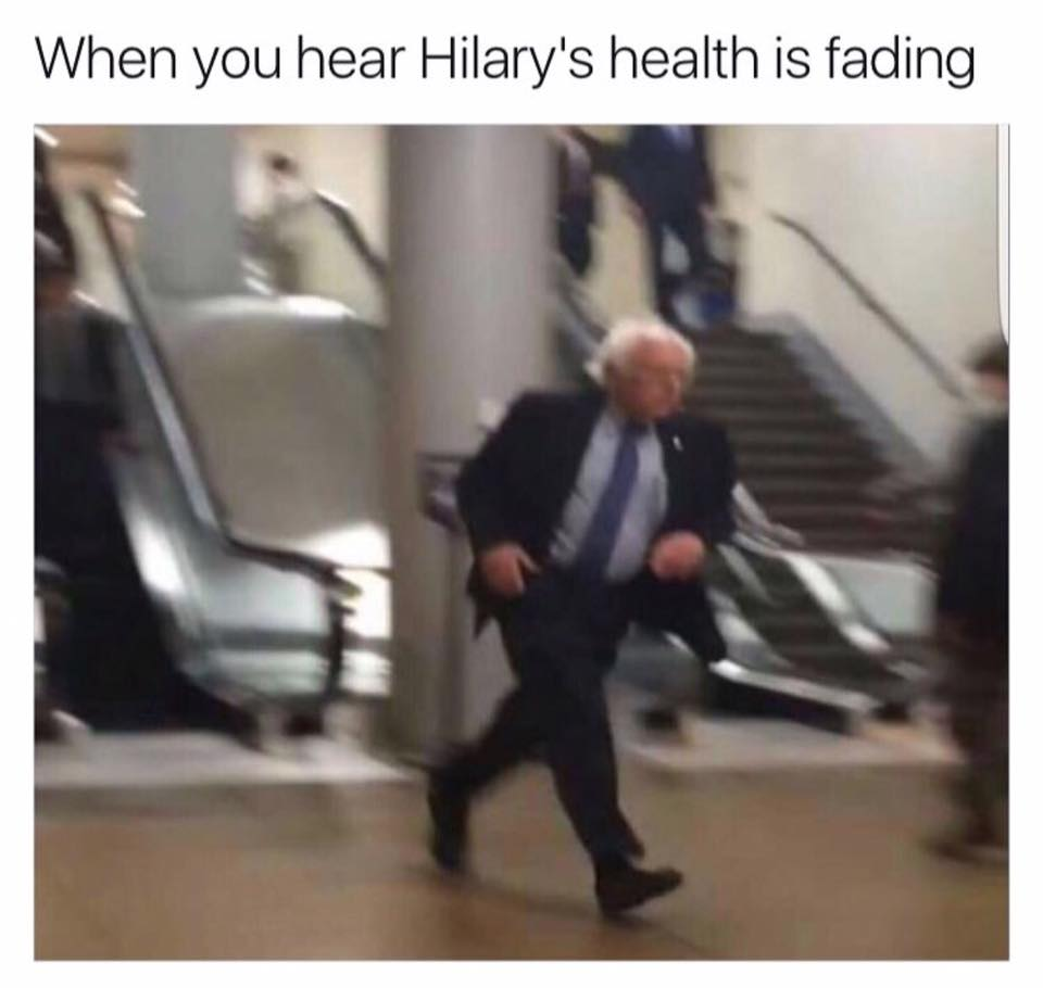 When you hear Hillary's health is fading