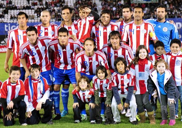 Formación de Paraguay ante Chile, amistoso disputado el 23 de junio de 2011