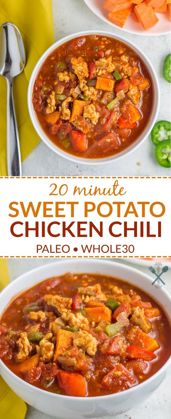 20 Minute Sweet Potato Chicken Chili