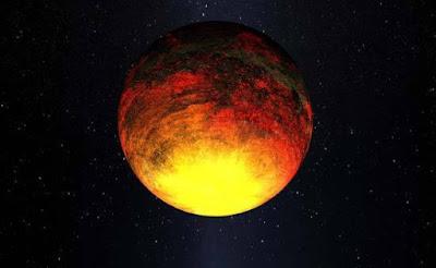 Una raffigurazione ipotetica del pianeta Vulcano