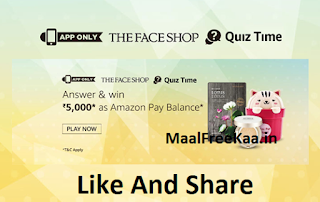 Face Shop Quiz Answer