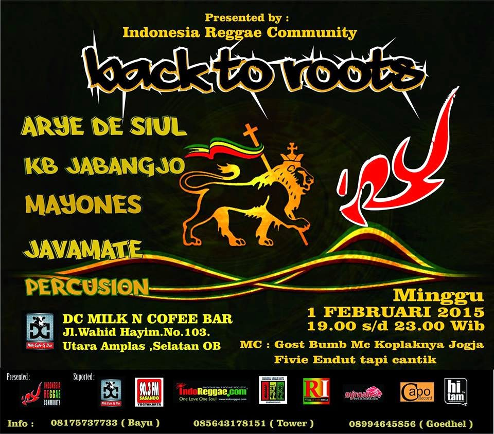 Event reggae jogja back to roots