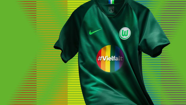 discount 48d6f 316fc Rainbow Numbers Not Allowed | VfL Wolfsburg To Wear Special ...
