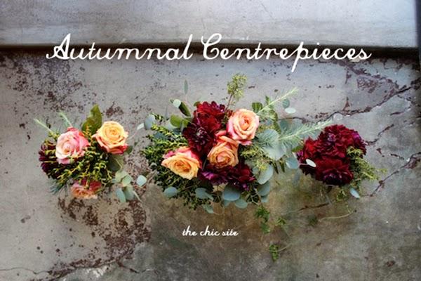 Autumn Flower Centrepieces DIY Tutorial