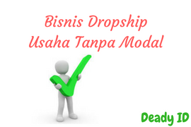 Dropship usaha tanpa modal