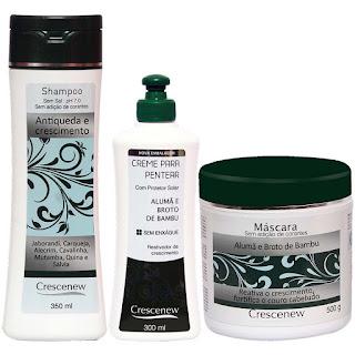 Shampoo, creme de pentear e máscara de alumã tratamento antiqueda de cabelo