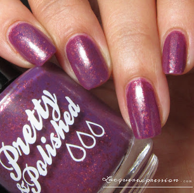 nail polish swatch of  I Done Plum had it! by pretty & polished