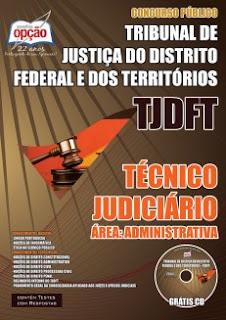 apostila TJ DFT pdf download Técnico Judiciário Área Administrativa