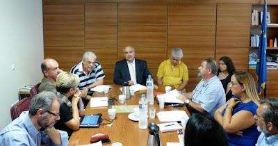 Σύσκεψη στο γραφείο του Αναπληρωτή Υπουργού ΑΑΤ κ. Μάρκου Μπόλαρη για την αποκατάσταση της ισορροπίας της Αγροτικής Ανάπτυξης στη Λήμνο: