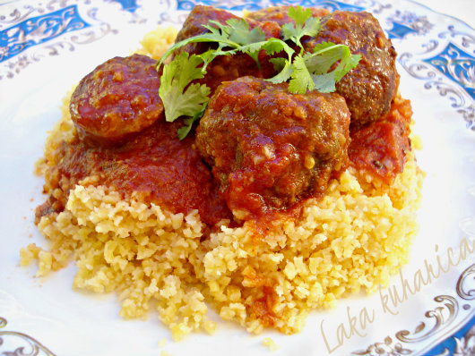 Moroccan kofte and sausage stew by Laka kuharica: North African  casserole  is ideal for a small crowd.