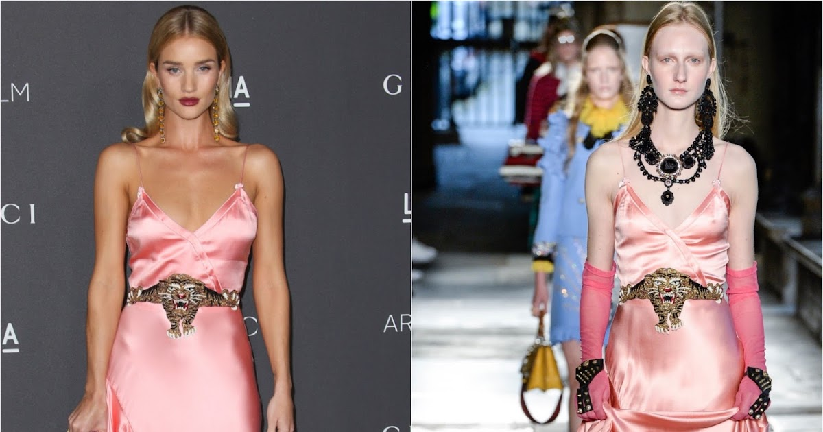 Rosie Huntington Whiteley In Gucci At The 2016 Lacma Art