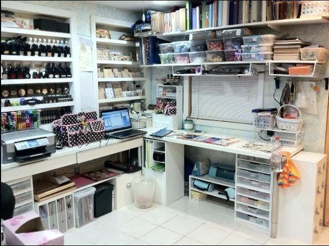 CRAFTY STORAGE: Sharon's basement workshop!