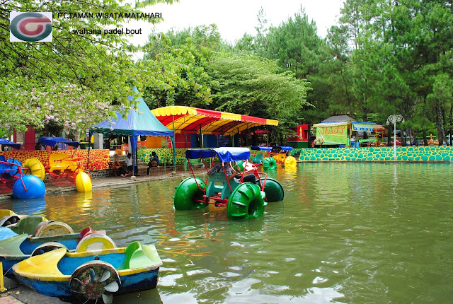 foto padle boat di taman wisata matahari