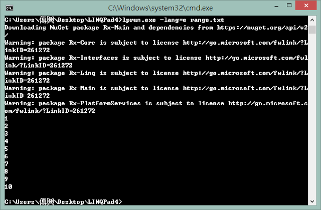 lprun execute include nuget dll