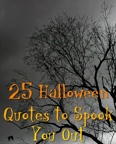 Creepy tree background with 25 Quotes for Halloween text over image