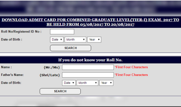 SSC Cgl 2017 Admit Card Released; Know How to Download