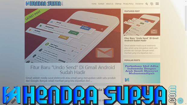 Homepage Hendra Surya