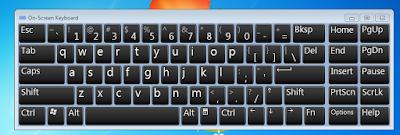langkah langkah dan Cara membuka On-Screen Keyboard