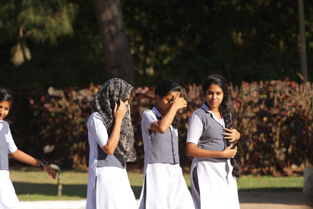 School girls takes a stroll at Daria Daulat Bagh, Srirangapatna