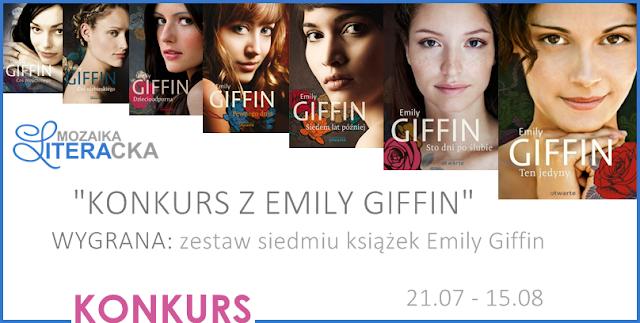 [ZAKOŃCZONY] KONKURS Z EMILY GIFFIN | DO WYGRANIA AŻ 7 KSIĄŻEK!