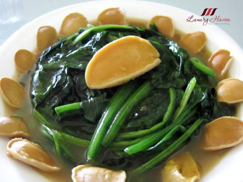 chinese new year new moon limpets with spinach