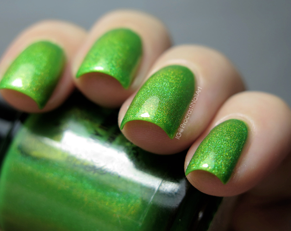 My Indie Polish Last Summer Picnic Green Holo