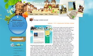 Take a Bus around Czech Republic Blogger Template
