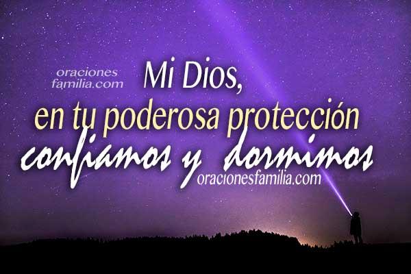 Oraciones de la noche, frases con plegaria al dormir en la noche, imágenes cristianas