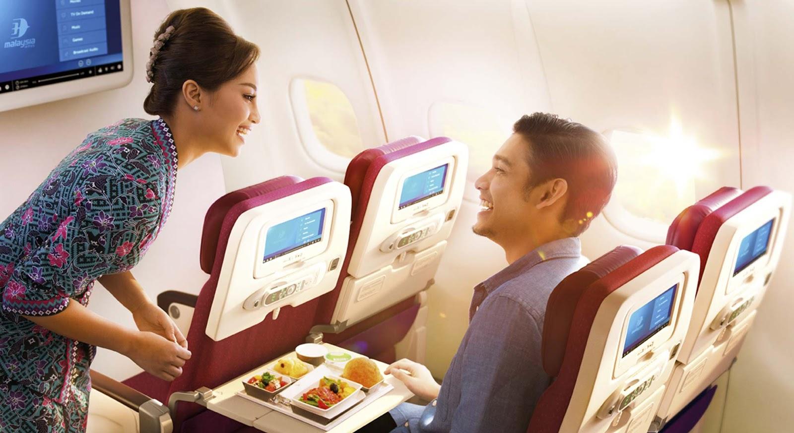 sajian atas penerbangan malaysia airlines