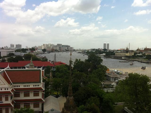 Vistas del río desde la torre de Wat Arun