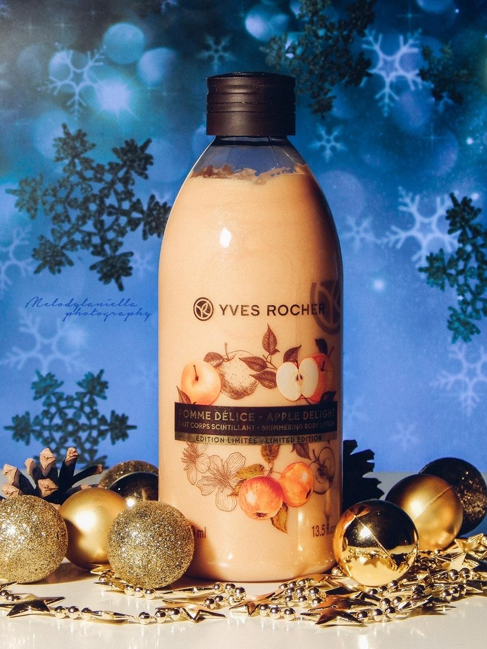 yves rocher mleczko do ciala o zapachu jablek w karmelu jablka w karmelu zapach swiat gwiazdka winter zima christmas prezent kosmetyki uroda