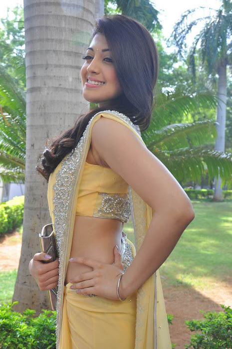 Pranitha Latest Photoshoot in Yellow Saree
