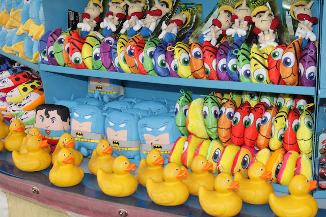 Some of the Carters Steam Fair hook a duck prizes.