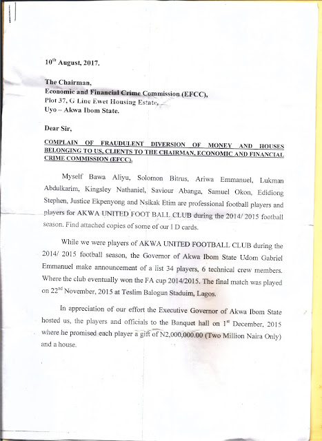 Police, DSS, EFCC to raid A'Ibom Ministry of Sports